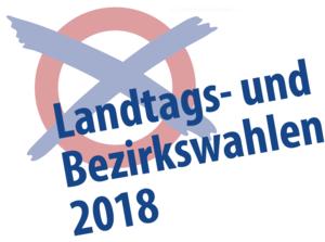 Logo Landtags- und Bezirkswahlen 2018
